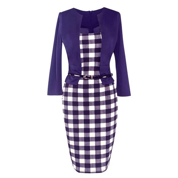 Dresses 2 Pc Patchwork Womens Dress Suit Poshmark